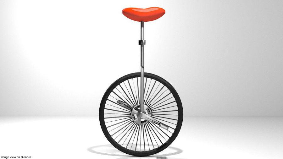 自転車-ユニサイクル royalty-free 3d model - Preview no. 2