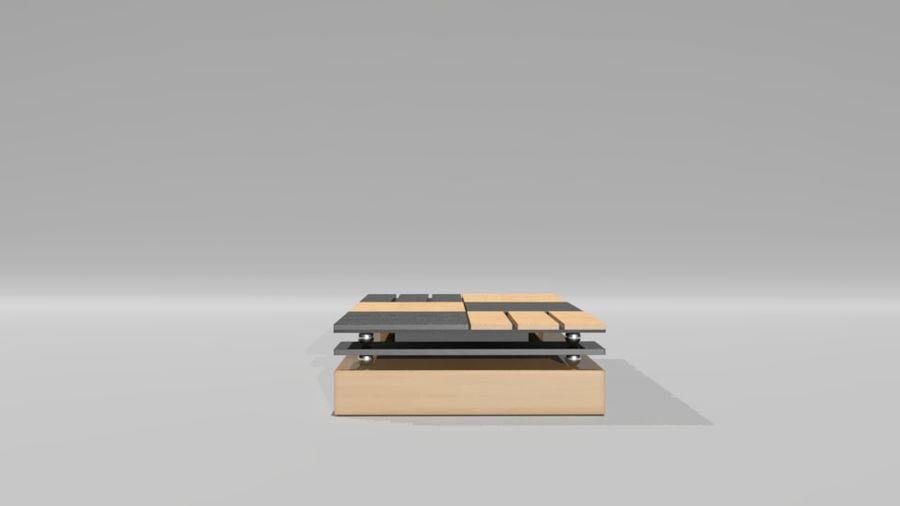 センターテーブル royalty-free 3d model - Preview no. 3
