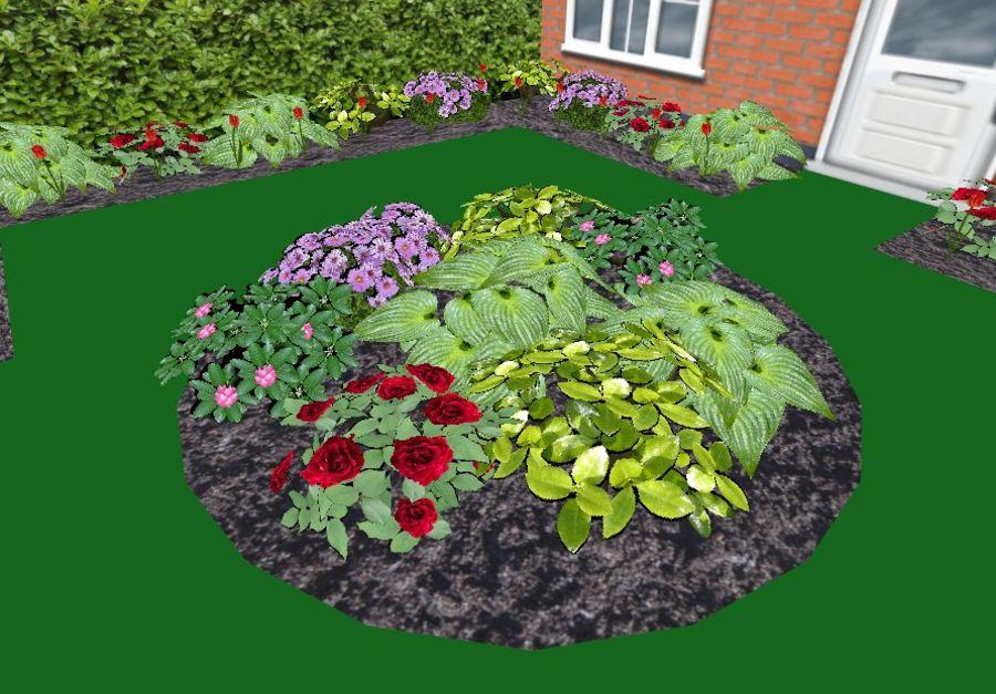 Fleurs et plantes de jardin royalty-free 3d model - Preview no. 1