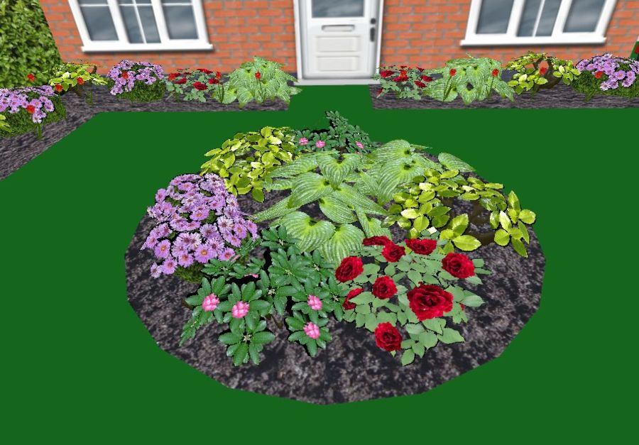 Fleurs et plantes de jardin royalty-free 3d model - Preview no. 2