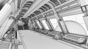 Raumschiffkorridor 2 3d model