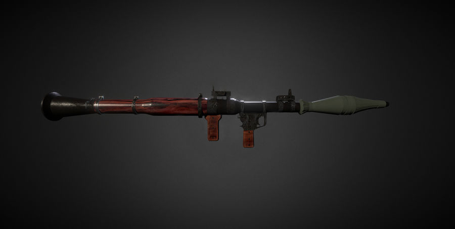 RPG 7 LAUNCHER royalty-free 3d model - Preview no. 1
