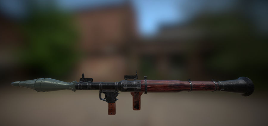 RPG 7 LAUNCHER royalty-free 3d model - Preview no. 19