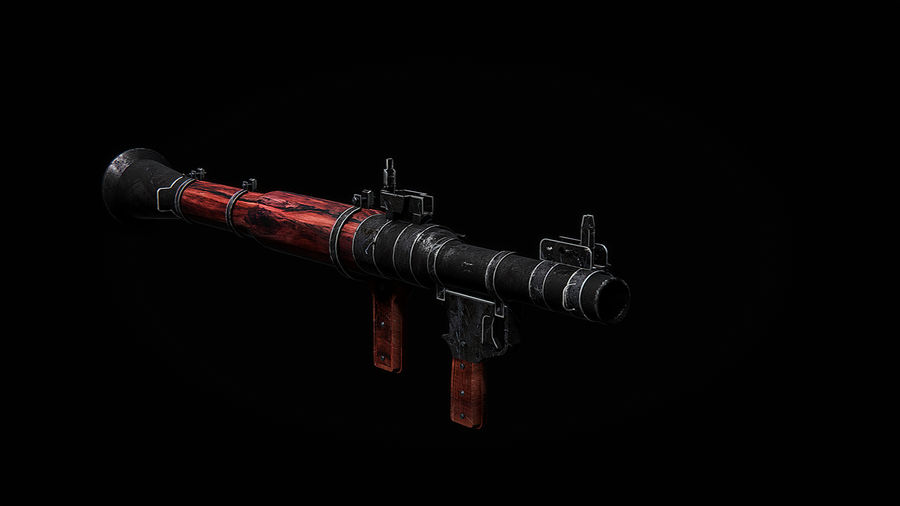 RPG 7 LAUNCHER royalty-free 3d model - Preview no. 3