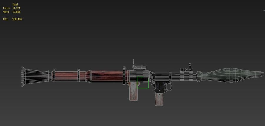 RPG 7 LAUNCHER royalty-free 3d model - Preview no. 18