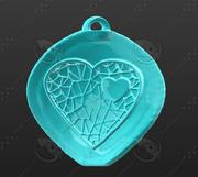 3D-afdrukbare Heart Net-hanger 3d model
