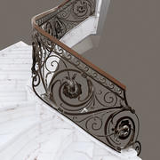 Wrought iron stair 3d model