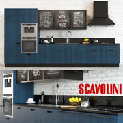 Scavolini Diesel Küche Blau 3d model