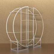 Chrome etagere 3d model