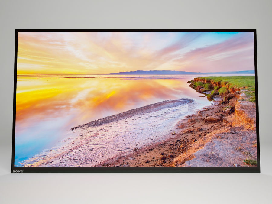 Sony Bravia OLED A1E royalty-free 3d model - Preview no. 6