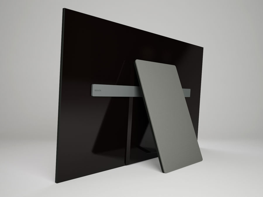 Sony Bravia OLED A1E royalty-free 3d model - Preview no. 4