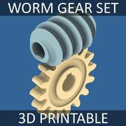 Worm Gear Collection 01 3d model