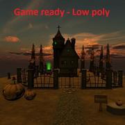 Gioco pronto Scenario fantasy Basso contenuto di poli 3d model