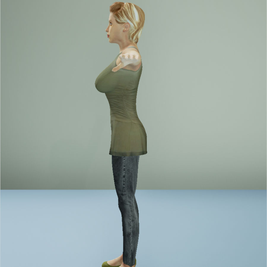 Female Character royalty-free 3d model - Preview no. 5