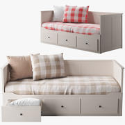 IKEA HEMNES bed 1 3d model