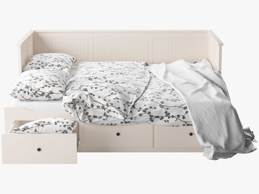 IKEA HEMNES cama 2 royalty-free 3d model - Preview no. 3