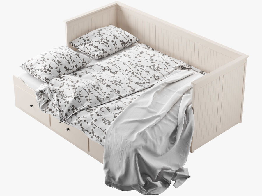IKEA HEMNES cama 2 royalty-free 3d model - Preview no. 7