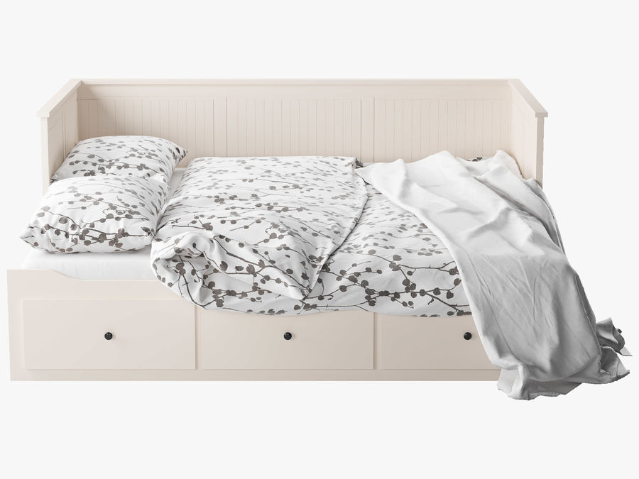 IKEA HEMNES cama 2 royalty-free 3d model - Preview no. 4