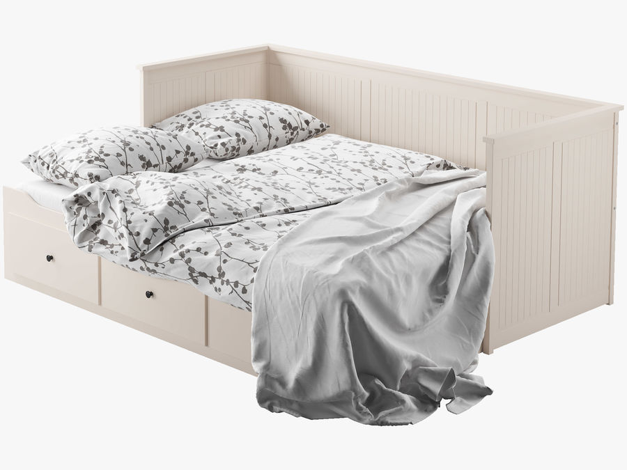 IKEA HEMNES cama 2 royalty-free 3d model - Preview no. 5