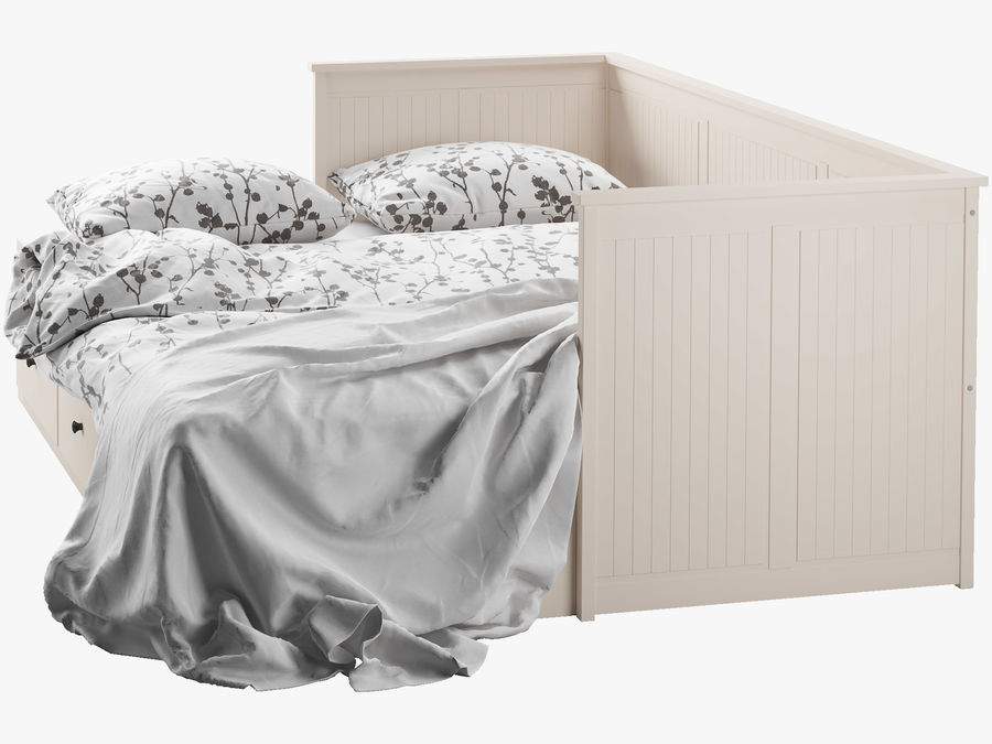 IKEA HEMNES cama 2 royalty-free 3d model - Preview no. 6