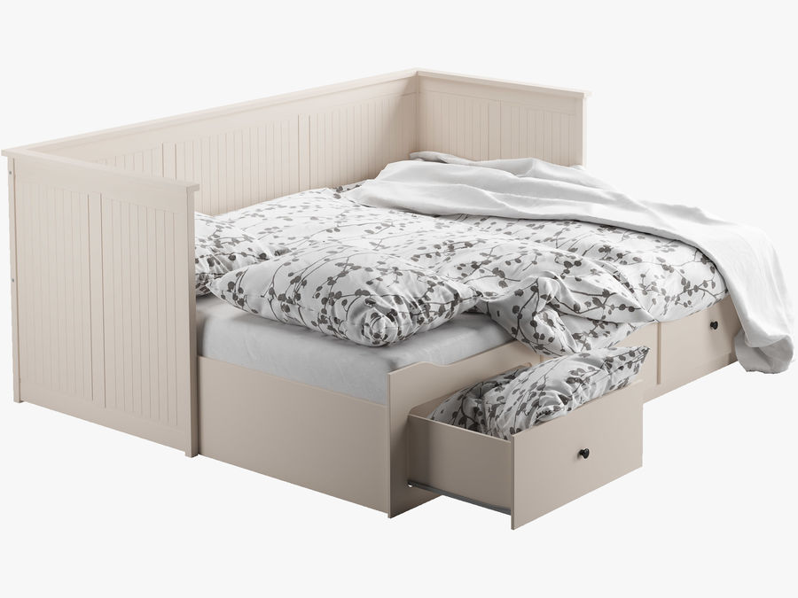 IKEA HEMNES cama 2 royalty-free 3d model - Preview no. 2