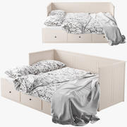 IKEA HEMNES bed 2 3d model