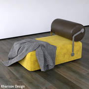 Kharisov Design Fabric Leather Couch 3d model
