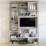 Divisor de estante con TV modelo 3d