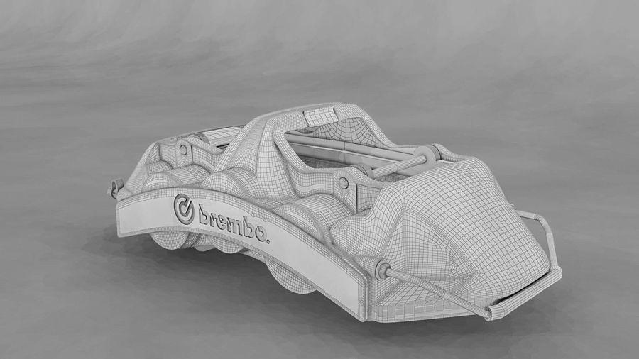 Brembo brake caliper royalty-free 3d model - Preview no. 6