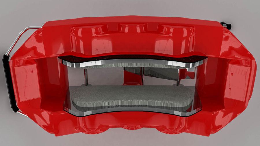 Brembo brake caliper royalty-free 3d model - Preview no. 4