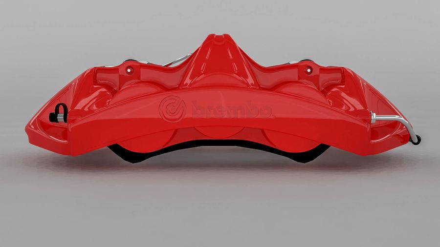 Brembo brake caliper royalty-free 3d model - Preview no. 11