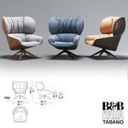 Lounge chair TABANO (B&B Italia) 3d model