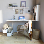 Domowe miejsce pracy 3d model