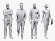 Business pack Lowpoly People 3d model