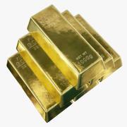 Sztabki złota 3d model
