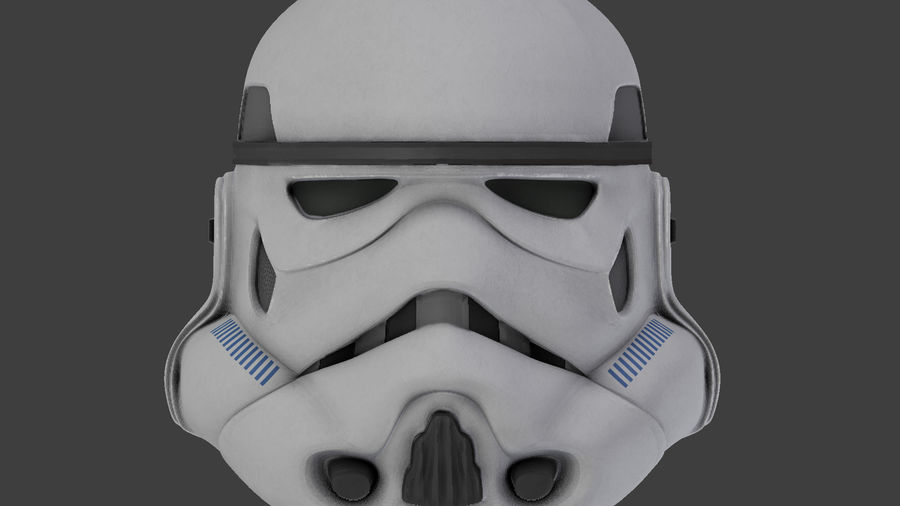 Star Wars Stormtrooper hjälm royalty-free 3d model - Preview no. 7