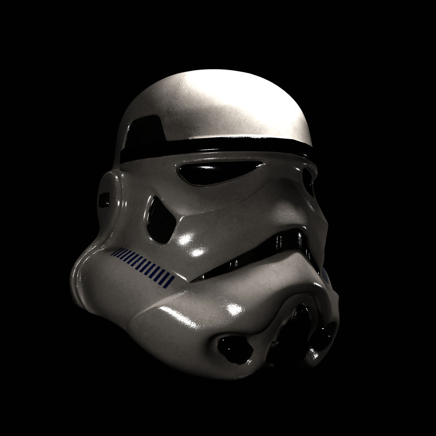 Star Wars Stormtrooper hjälm royalty-free 3d model - Preview no. 1