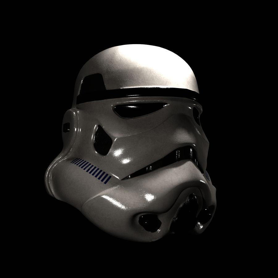 Casco Stormtrooper di Star Wars royalty-free 3d model - Preview no. 1