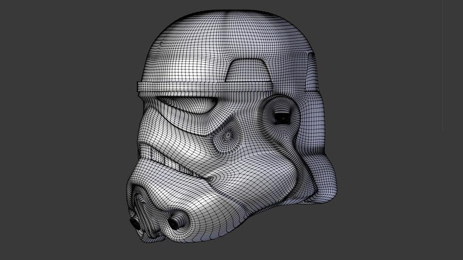 Casco Stormtrooper di Star Wars royalty-free 3d model - Preview no. 3