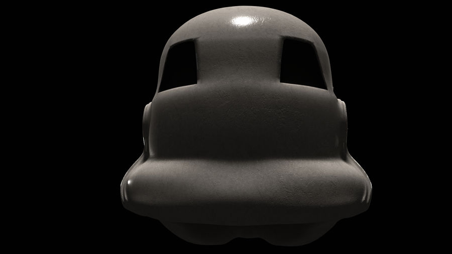 Star Wars Stormtrooper hjälm royalty-free 3d model - Preview no. 6