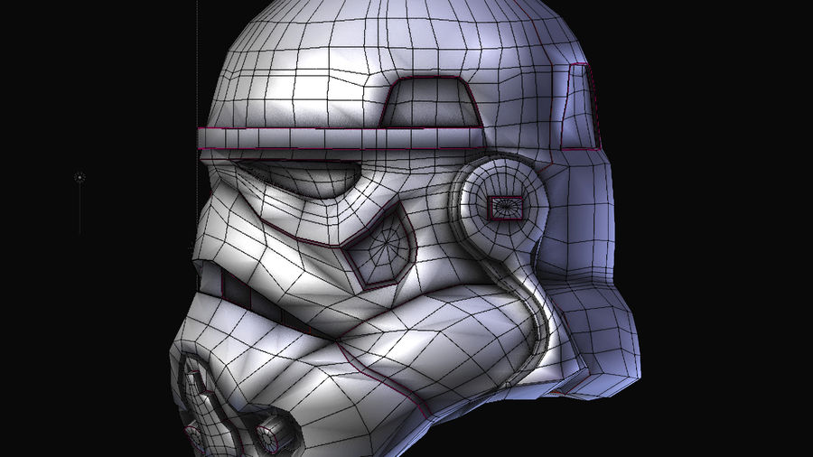 Star Wars Stormtrooper hjälm royalty-free 3d model - Preview no. 4
