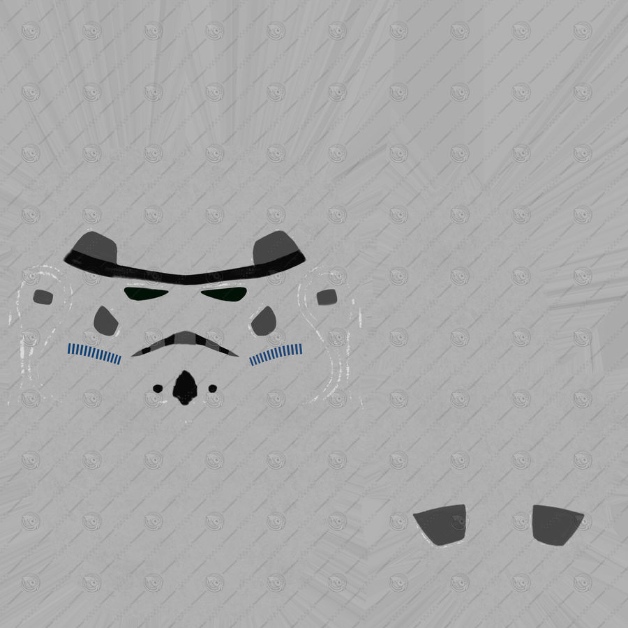 Star Wars Stormtrooper hjälm royalty-free 3d model - Preview no. 9