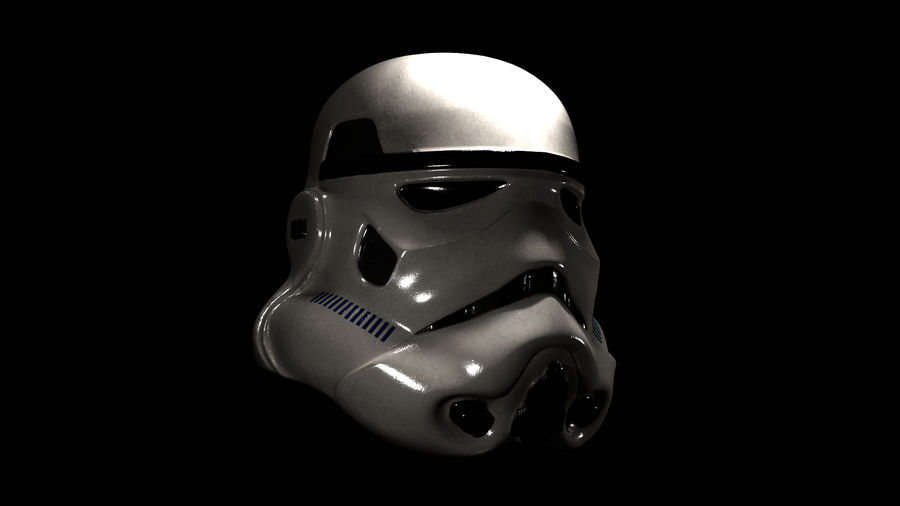 Star Wars Stormtrooper hjälm royalty-free 3d model - Preview no. 5