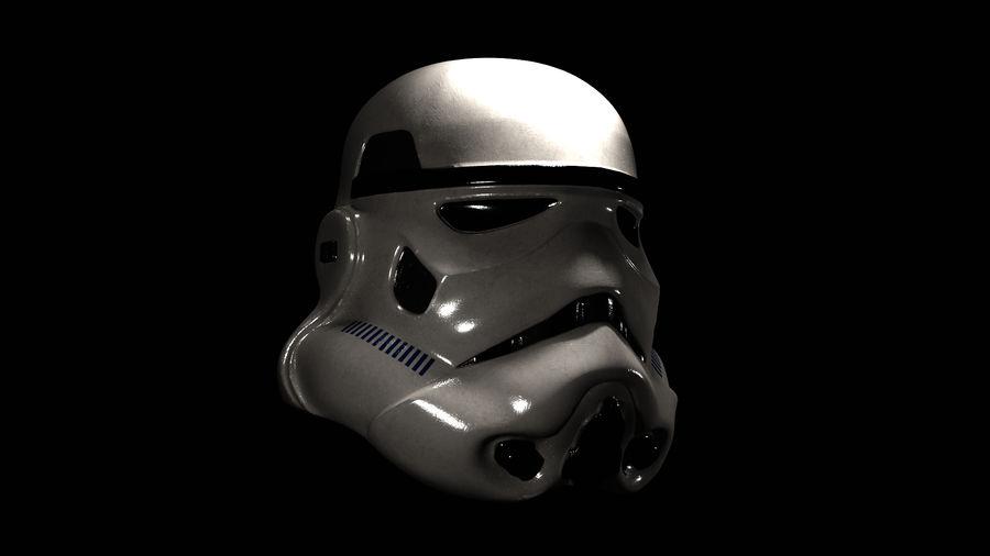 Casco Stormtrooper di Star Wars royalty-free 3d model - Preview no. 5