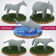 Animals Pack Düşük Poli - Vol. 1 3d model