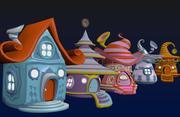 Casas de fantasía 5 modelo 3d