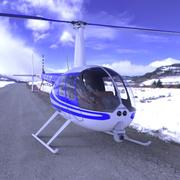 News Helicopter for fbx and Unity 3d model