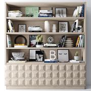 Bookshelf+decoration 3d model