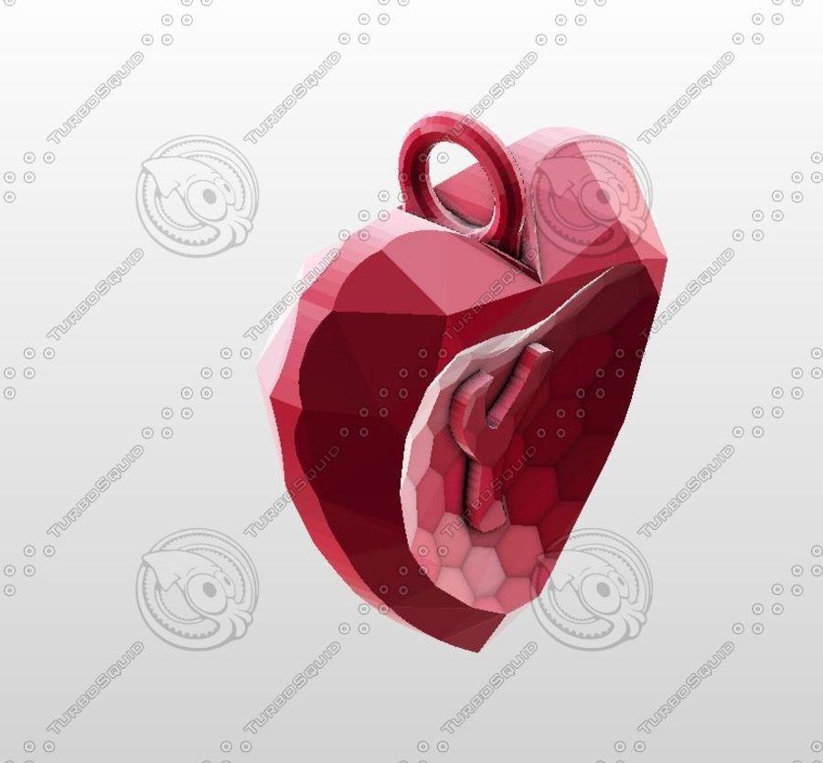 3D Yazdırılabilir Valentine tarafından Crystal-Heart-TwoLetters Kolye royalty-free 3d model - Preview no. 12