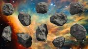 10個の小惑星のセット-高および低ポリバージョン 3d model